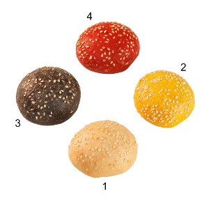MINI PARTY BURGER MIX 4 VARIETA' G30X100PZEDNA
