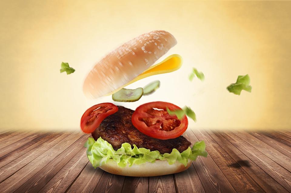 Cavalca l'onda degli hamburger